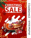 christmas sale  red vertical... | Shutterstock .eps vector #1544580911