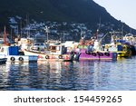 old wooden fishing boats moored ... | Shutterstock . vector #154459265