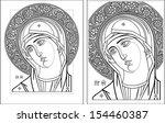 virgin oplechnaya outline5 6... | Shutterstock .eps vector #154460387