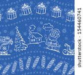 christmas seamless pattern for... | Shutterstock .eps vector #154460741