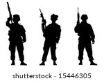 black silhouettes of the...   Shutterstock . vector #15446305