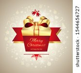 merry christmas greeting card ... | Shutterstock . vector #1544656727