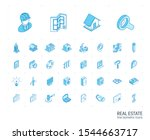 isometric line icon set. 3d... | Shutterstock .eps vector #1544663717