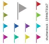 flag  location multi color icon....