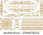 vintage ornament set. flourish... | Shutterstock .eps vector #1544678231