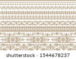 vintage ornament set. flourish... | Shutterstock .eps vector #1544678237