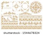 vintage ornament set. flourish... | Shutterstock .eps vector #1544678324