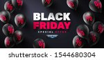 black friday sale poster with... | Shutterstock .eps vector #1544680304
