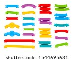 colorful ribbons banners. set... | Shutterstock .eps vector #1544695631
