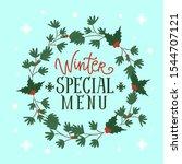 seasonal winter special menu...   Shutterstock .eps vector #1544707121