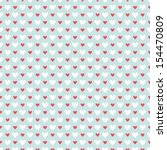 retro abstract heart seamless... | Shutterstock .eps vector #154470809