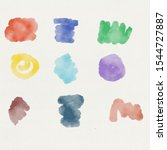 colorful watercolor brush style ... | Shutterstock . vector #1544727887
