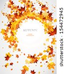 abstract autumnal  background ... | Shutterstock .eps vector #154472945