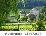 view of the vineyards in gevrey ... | Shutterstock . vector #154473677