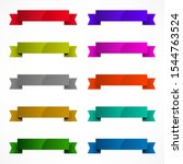 set of color ribbons on white | Shutterstock . vector #1544763524