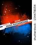 vertical music background with... | Shutterstock .eps vector #154478054