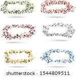 set of bright abstract circles... | Shutterstock .eps vector #1544809511