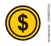 money icon isolated on white... | Shutterstock .eps vector #1544832161