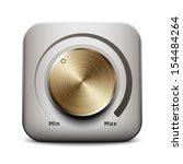 volume knob icon  vector