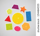 stickers with geometric shapes  ...   Shutterstock .eps vector #154484555