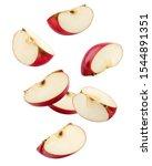 Falling Red Apple Slice...