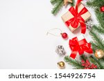christmas flat lay background... | Shutterstock . vector #1544926754