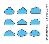 cloud logo template vector... | Shutterstock .eps vector #1544928794