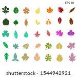 fall leaves bundle   autumn  | Shutterstock .eps vector #1544942921
