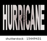 hurricane text with abstract...   Shutterstock . vector #15449431