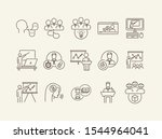 set of business training icons. ... | Shutterstock .eps vector #1544964041