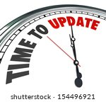 the words time to update on a... | Shutterstock . vector #154496921