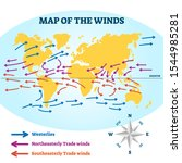map of the winds vector... | Shutterstock .eps vector #1544985281