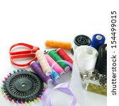 Close Up Image Of Sewing Stuff...