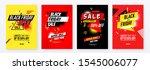 set of black friday sale... | Shutterstock .eps vector #1545006077