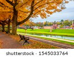 Historical Galena Town view at Autumn in Illinois of USA