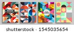 modern geometric abstract... | Shutterstock .eps vector #1545035654