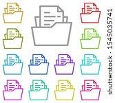folder  file multi color icon....