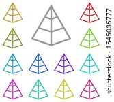 pyramid chart  analystics multi ...
