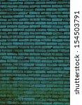 teal blue brick abstract... | Shutterstock . vector #154503791