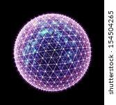 abstract 3d global network... | Shutterstock . vector #154504265