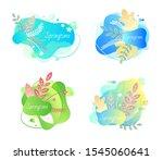 springtime vector  isolated... | Shutterstock .eps vector #1545060641