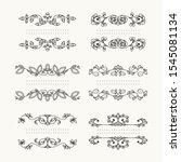 collection of floral vector... | Shutterstock .eps vector #1545081134