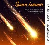 space vector banner of meteor...   Shutterstock .eps vector #1545140171