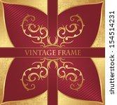 luxury vintage background.... | Shutterstock .eps vector #154514231