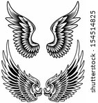 wings set vector | Shutterstock .eps vector #154514825