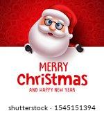 santa claus vector christmas... | Shutterstock .eps vector #1545151394
