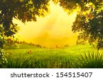 magic forest. abstract... | Shutterstock . vector #154515407