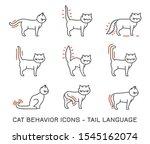 cat behavior icons set.... | Shutterstock .eps vector #1545162074