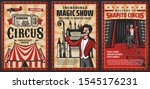 circus show vintage posters... | Shutterstock .eps vector #1545176231