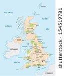 united kingdom national park map | Shutterstock .eps vector #154519781